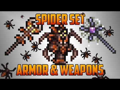 Terraria - Spider Set with Armor and Weapons... and Spider-Steve