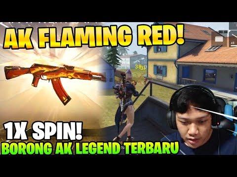 1X SPIN HOKI! BORONG AK FLAMING RED WEAPON ROYALE TERBARU! - Garena Free Fire