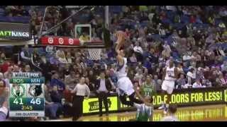 Andrew Wiggins to Zach LaVine half-court alley-oop dunk: Celtics at Timberwolves