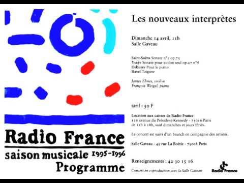 James Ehnes (violin) & François Weigel (piano) on Radio France (1996)