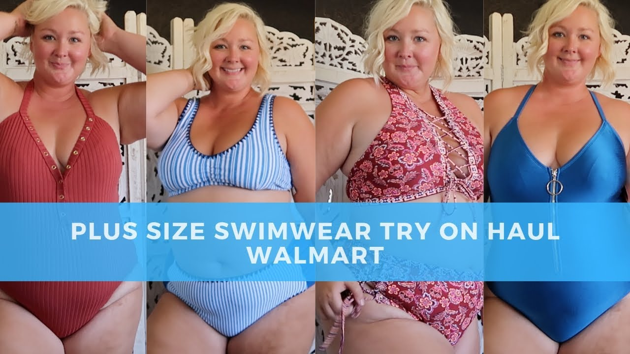 88861dedeb027 Plus Size Swimwear Try On Haul - 2019 WalMart Swimsuits - Affordable Curvy  Bikinis and One Pieces