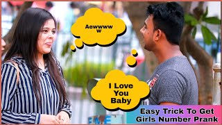Easy Trick To Get Girls Number Prank On Cute Girls|AKY FILMS|