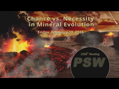 PSW 2358 Chance vs Necessity in Mineral Evolution | Robert H
