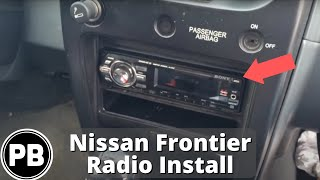 2000 - 2004 Nissan Frontier Pioneer DEH-X6700BT Stereo Install Replacement
