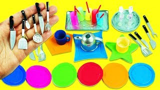 10 DIY Miniatures Kitchen / Cooking  Stuff #2 - Each in less than 1 minute - simplekidscrafts