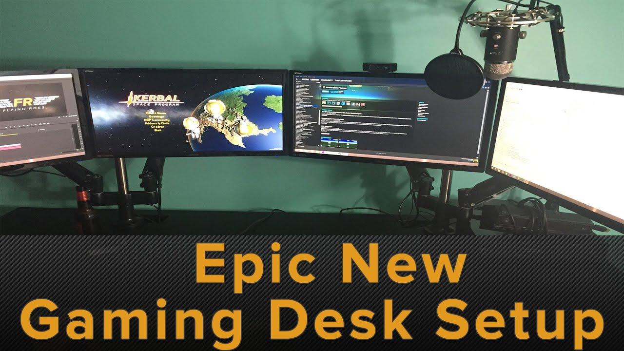 Epic New Gaming Desk Setup Amp Evodesk Com Review Youtube