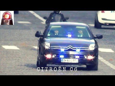 Citroën C6 blindée // Unmarked Armored Police Car - Paris