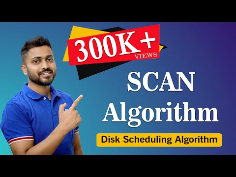 SCAN Algorithm in Disk scheduling with Example | Operating System