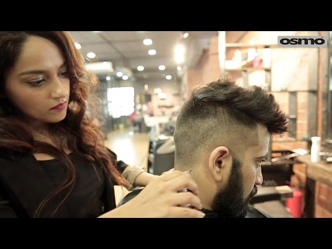 Side short with textured on Top Haircut for Indian MMA fighter Aaryamann Sethi