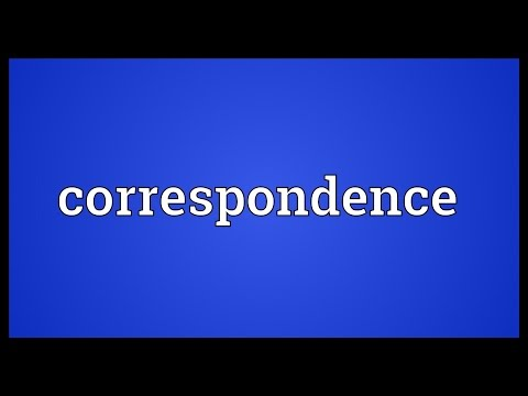 Correspondence Meaning