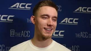 Curran Scott after ACC Tournament win