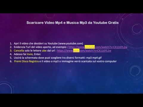 scaricare da youtube mp4 gratis