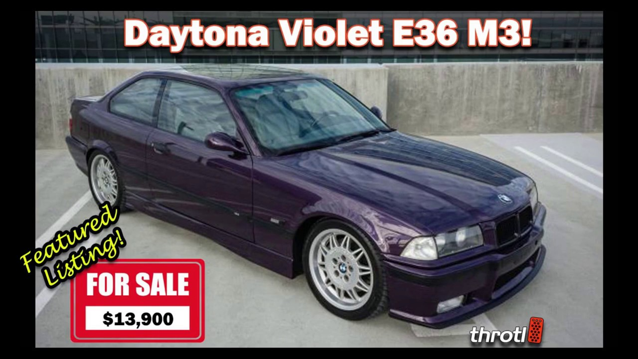 1995 BMW E36 M3 FOR SALE in Daytona Violet Throtl Featured