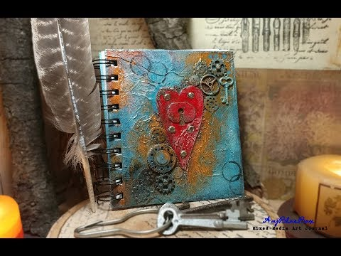 Rustic Art Journal: a mixed-media art project with rustic charm theme