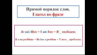 Французский язык. Уроки французского #4: Грамматика. Общая структура языка (1)