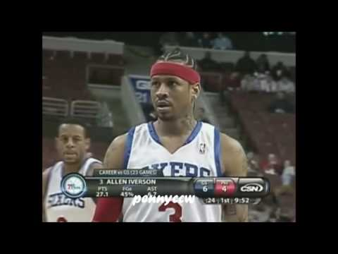 Allen Iverson one-on-one plays against...