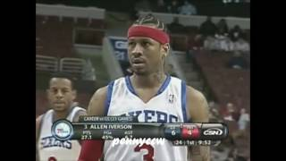 Allen Iverson one-on-one plays against Stephen Curry (2010)