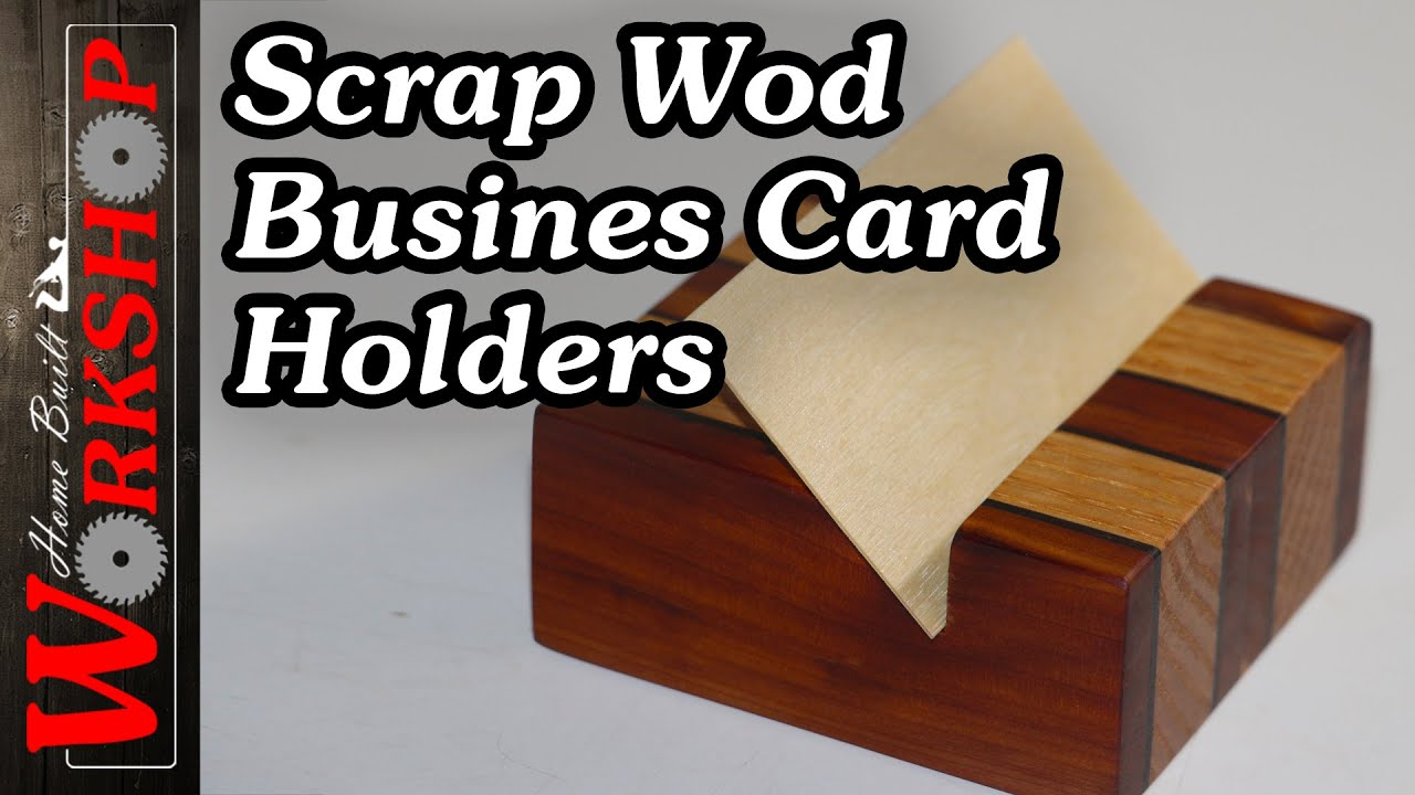 How to make wooden business card holders - YouTube