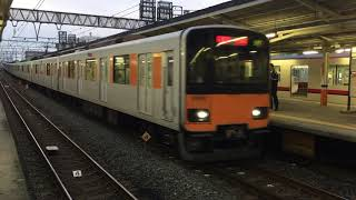 東武鉄道せんげん台駅に入線する50050系