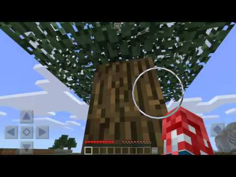 Tree trapped in Minecraft created by Cool Herobrine