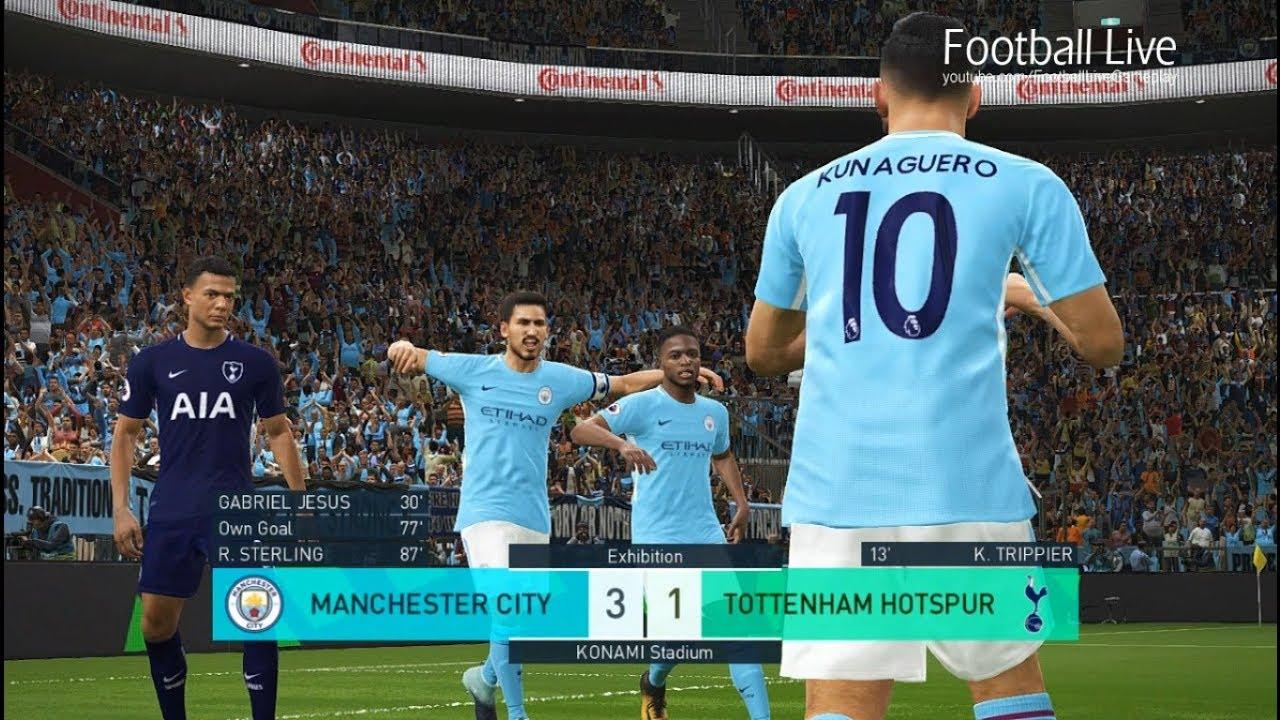 PES 2018 | MANCHESTER CITY vs TOTTENHAM HOTSPUR | DERBY ...