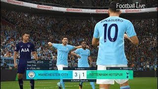 PES 2018 | MANCHESTER CITY vs TOTTENHAM HOTSPUR | DERBY Full Match | Gameplay PC