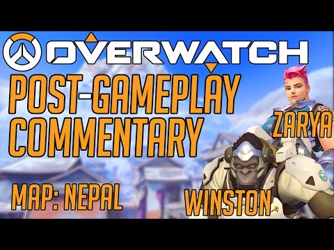 Extremely close Nepal game // Winston, Zarya // Overwatch Post-Gameplay Commentary