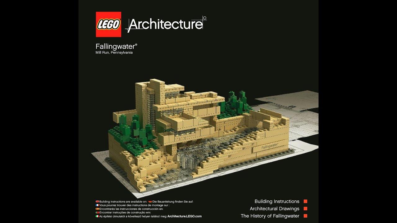 lego architecture fallingwater 21005 instructions diy youtube