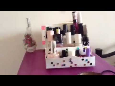diy rangement vernis ongle recup youtube. Black Bedroom Furniture Sets. Home Design Ideas