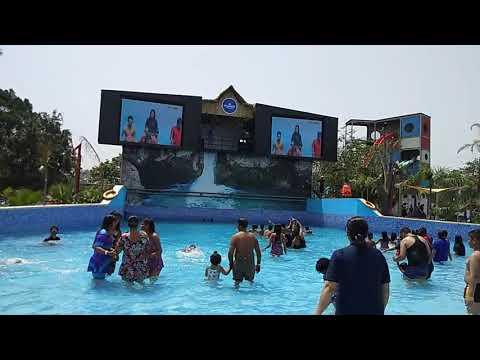 Wave pool dance at Atlantic water world Kalindi kunj Delhi