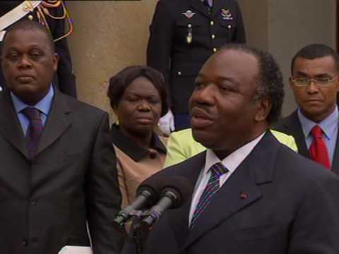 Gabon president makes first trip to France