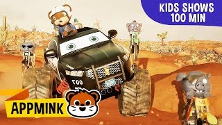 appMink Police Car, Police Helicopter & Firetruck Kids Show - kids movies compilation