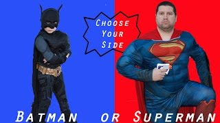 Little Heroes In Real Life Marvel Superheroes Batman + Superman + Spiderman vs. Wolverine