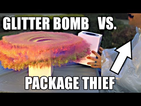 None - Getting Revenge On Package Thieves With Epic Glitter Bomb Trap