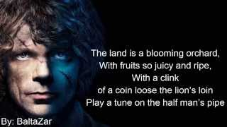 Miracle of sound - Half man's song Lyrics tyrion Lannister GOT