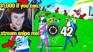 BUGHA vs. *FULL LOBBY* of STREAM SNIPERS! (Fortnite World Cup Winner)