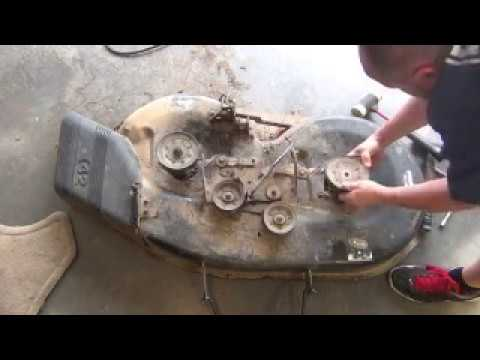 How To Replace Mower Deck Spindle Craftsman 42 Riding