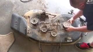 How To Replace Mower Deck Spindle Craftsman 42