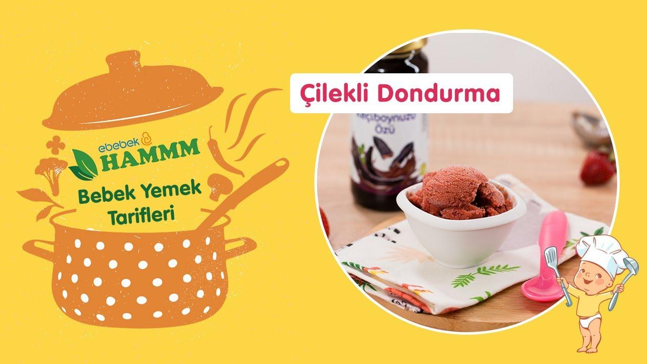 Pratik Çilekli Dondurma | Bebek Yemek Tarifleri | Hammm Vakti