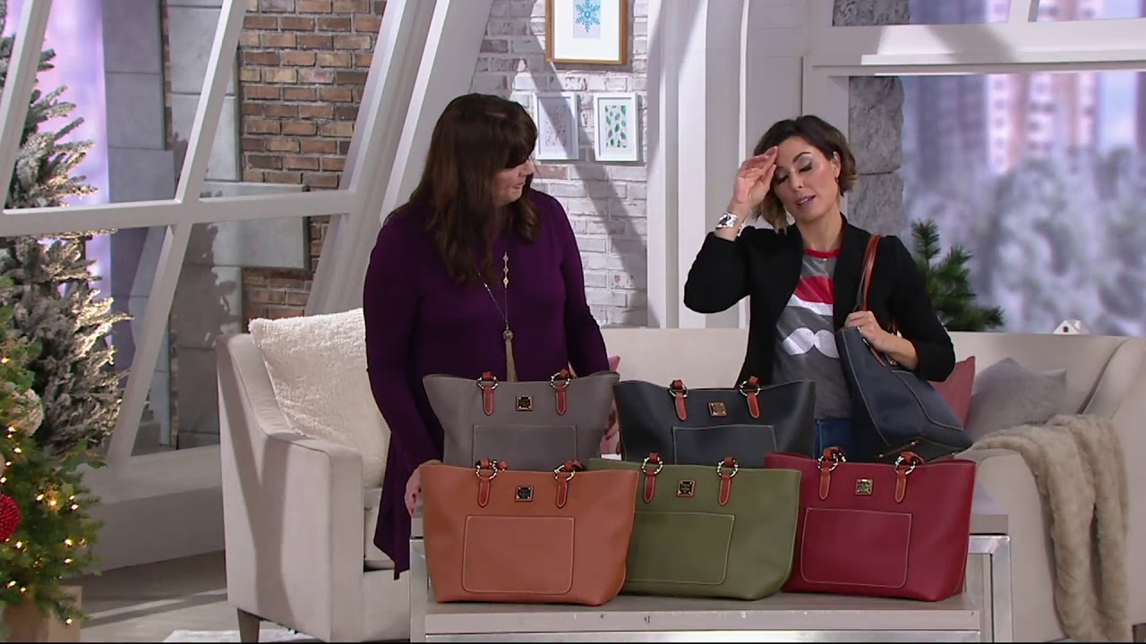 ab0cd6567 Dooney & Bourke Pebble Leather Tote -Pammy on QVC - YouTube
