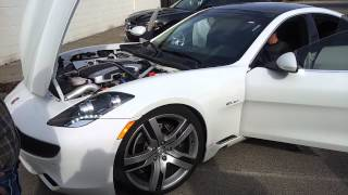 2012 Fisker Karma Concept Electric Car - Motor Sound through speakers?