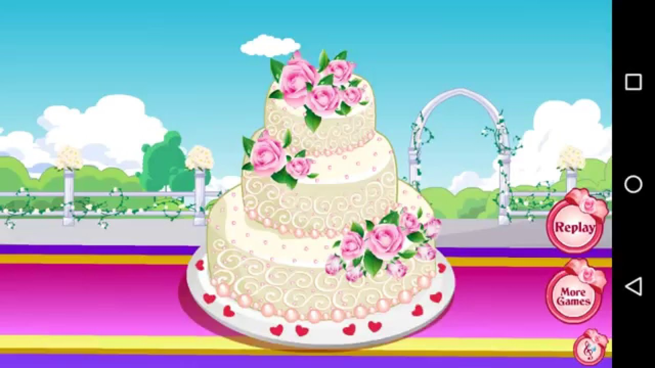 how to play rose wedding cake game simple easy cooking games 3 youtube. Black Bedroom Furniture Sets. Home Design Ideas