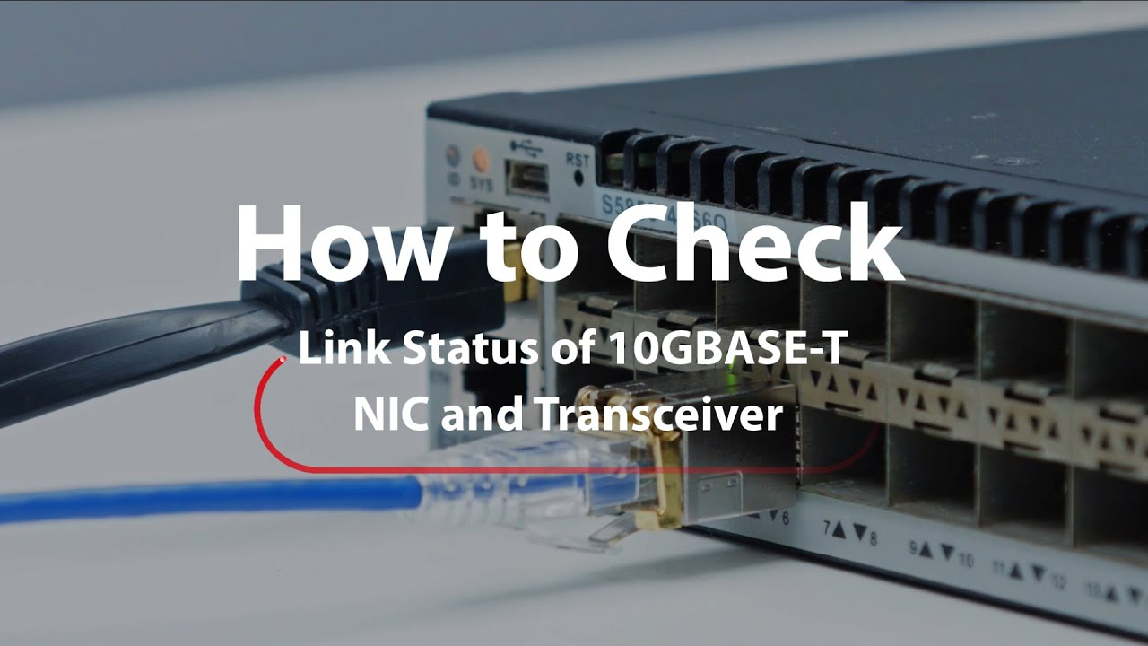 Link Status Check Of 10gbase T Sfp Transceiver With Network Adapter Ni In 2020 Fibre Optics Graphic Card Networking