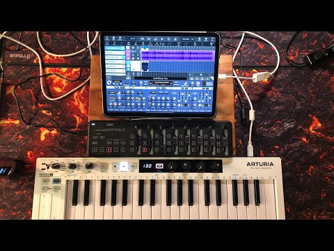 Cubasis 3 - Using Mackie HUI with Korg nanoKONTROL 2 with SynthMaster One - Live Tutorial
