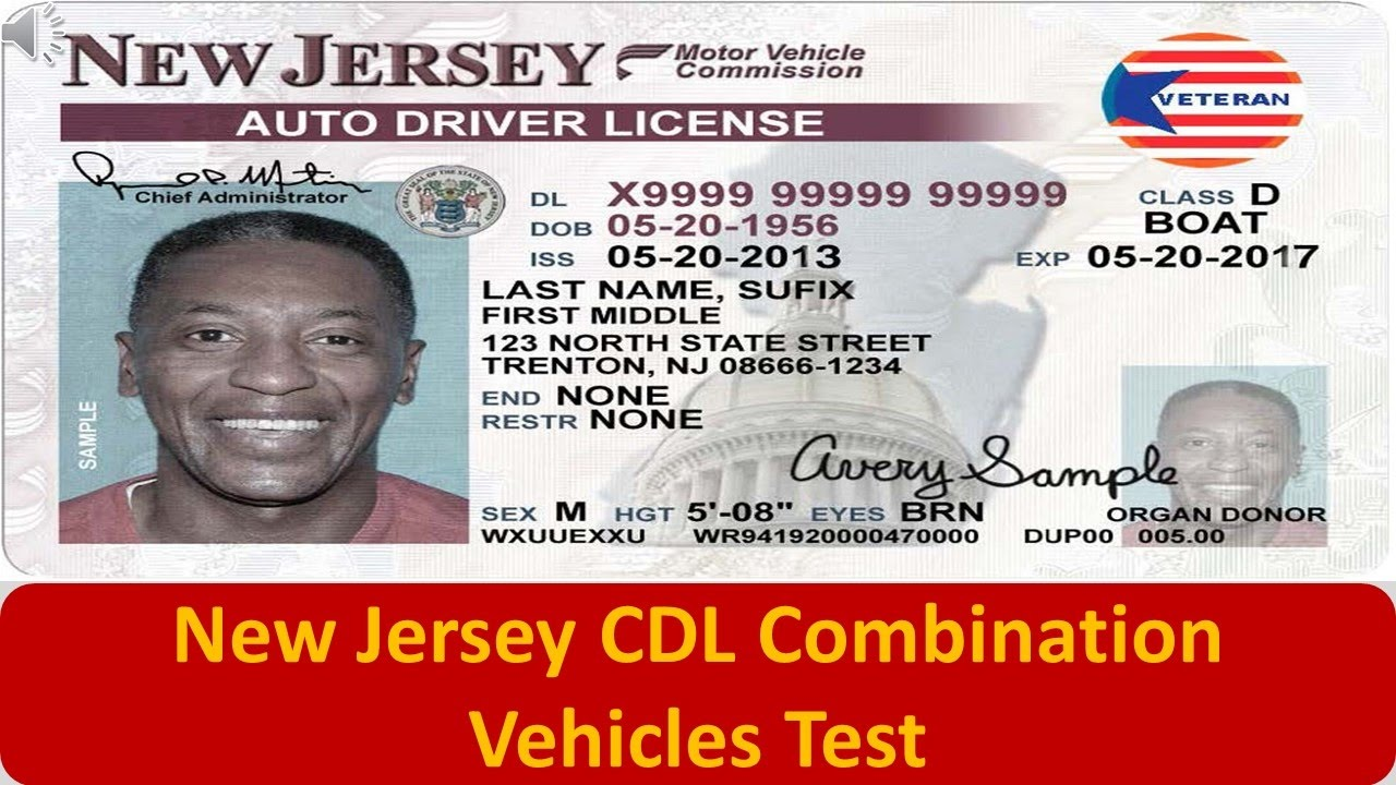 what is a class d drivers license in new jersey