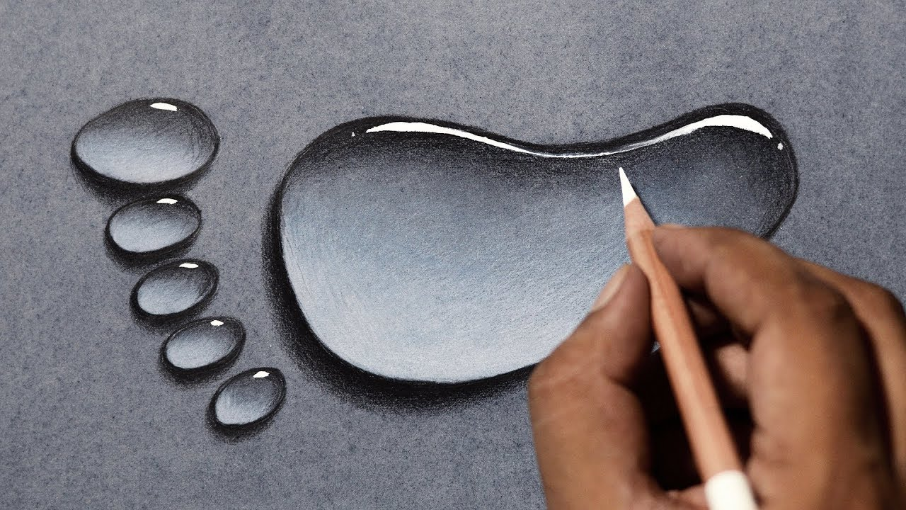 Draw water drops in 3 easy steps water drop drawing tutorial