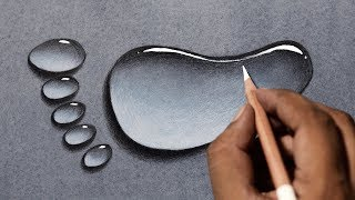 Draw water drops in 3 easy steps! Water drop drawing tutorial.