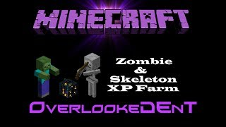 Zombie & Skeleton XP Farm - Minecraft Xbox 360/PS3 - [Tutorial]