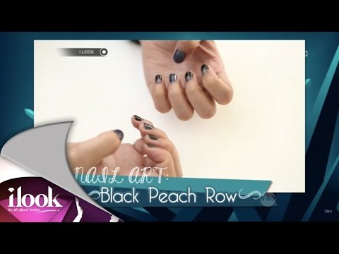 Nail Art: Black Peach Row - iLook