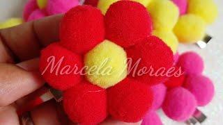 Faça Flor de Pom Pom